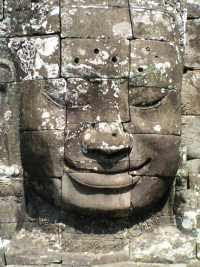 Serene faces at The Bayon, Angkor