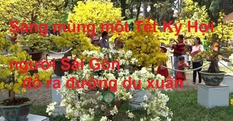 Sáng mùng 1 Tết Kỷ Hợi người Sài Gòn đổ ra đường du xuân