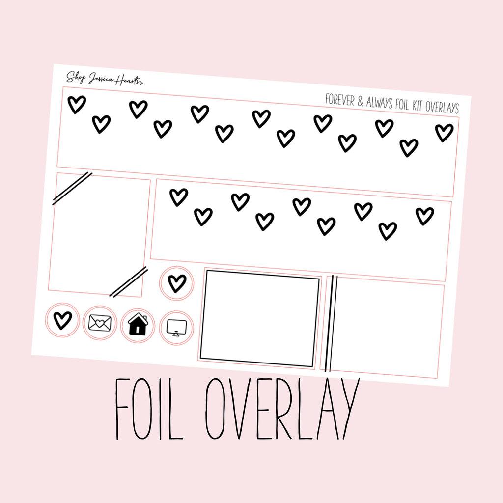 Forever Always Foil Overlay Sticker Sheet Transparent Jessica