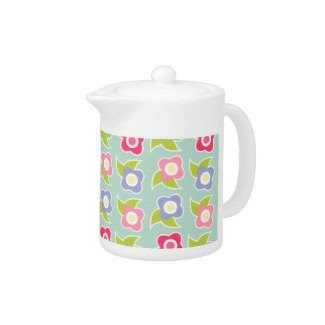 Spring Fling Teapot zazzle_teapot