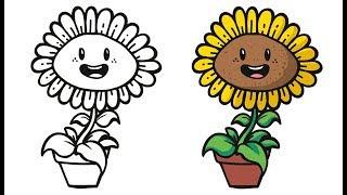 All Clip Of Belajar Mewarnai Bunga Matahari Bhclipcom