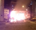 Mais um posto da PM no DF  é incendiado (Genildo Galvão/VC no G1)