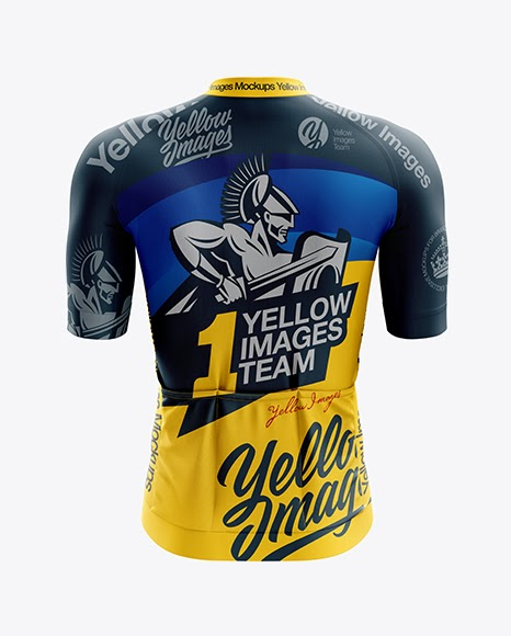 Download Men's Cycling Speed Jersey mockup (Back View) PSD Template ...