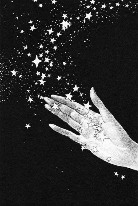 illustration from The Rubaiyat of Omar Khayyam, published 1942, Willy Pogany  #illustration #black #stars