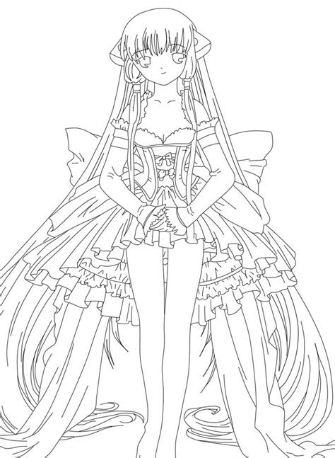chobits anime coloring pages chii colouring pages page