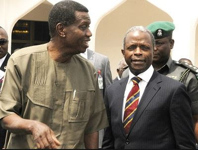 Image result for yemi osinbajo and pastor adeboye