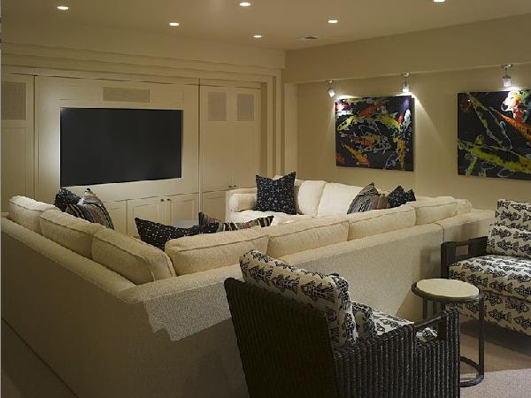 Pit Sectional - Contemporary - media room