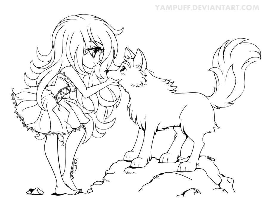 6100 Manga Animals Coloring Pages Download Free Images