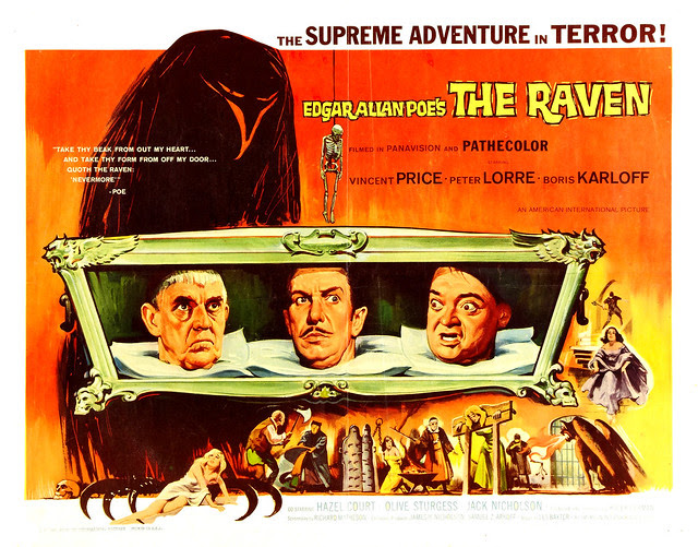 Reynold Brown - The Raven (American International, 1963) half sheet
