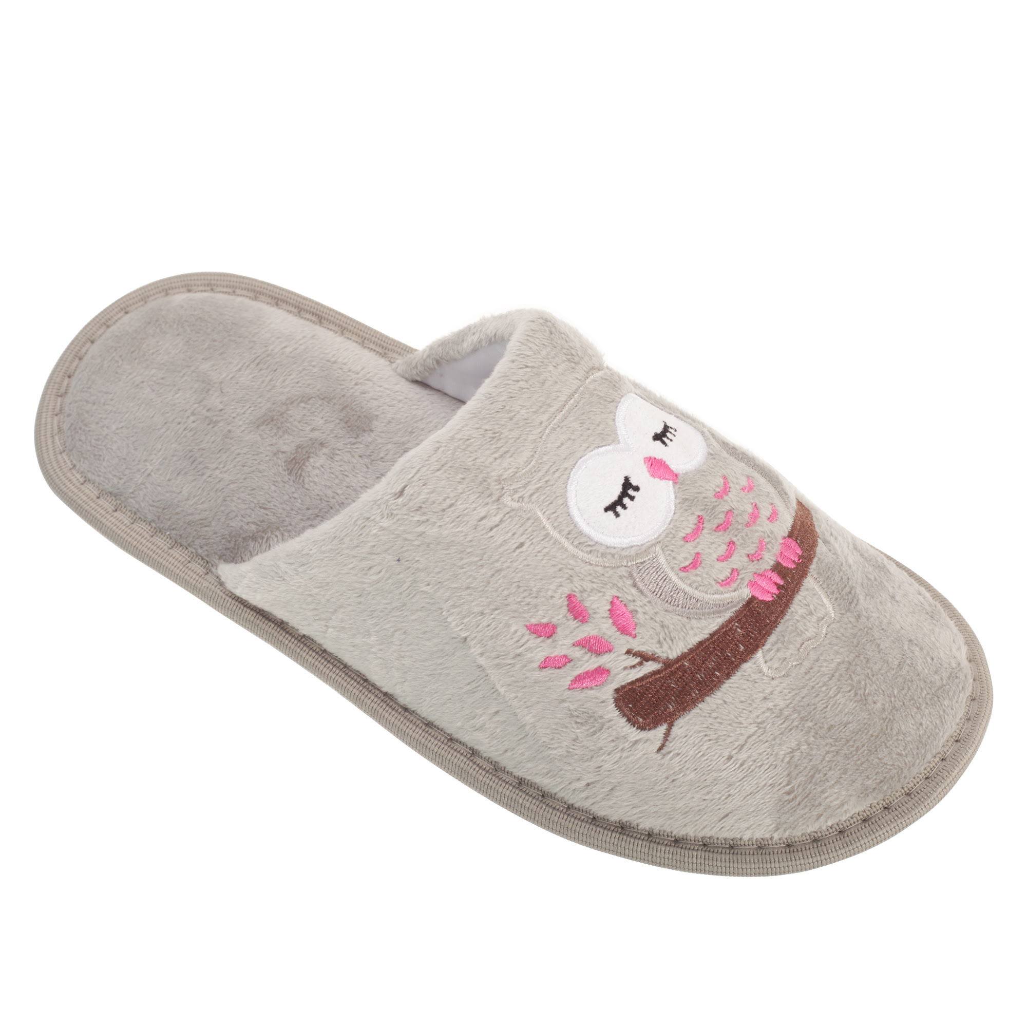 Slumberzzz Womens/Ladies Owl Design Slip-On Slippers | eBay