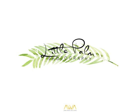 Tropical Leaf Custom Logo Design, Wreath Photography Logo ...