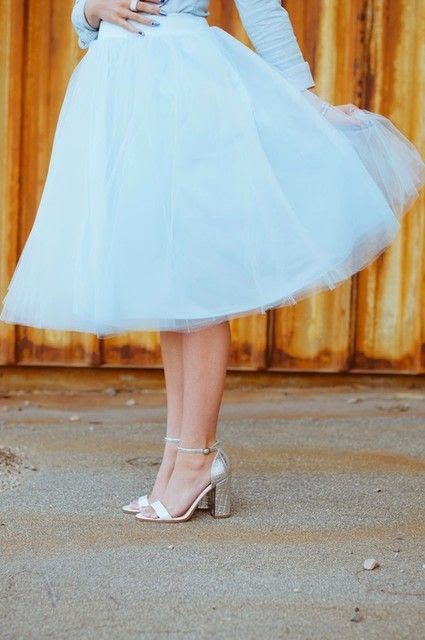 Lovely tule skirt and pumps