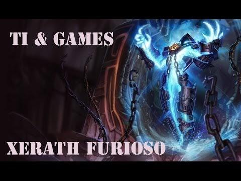 LOL Xerath furioso vs LB - gameplay detonando no mid
