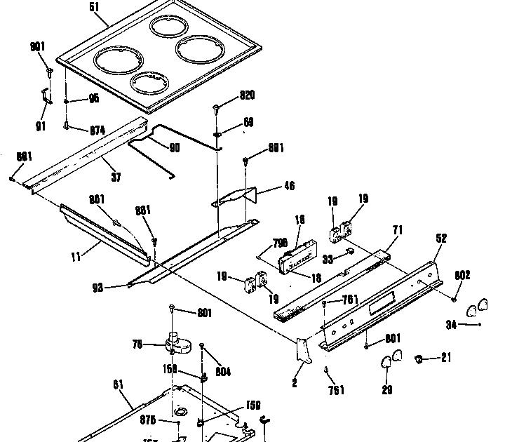 35 ge profile range parts diagram