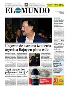 La prensa de derechas culpa a Podemos del zurdazo del matón pontevedrés a Rajoy