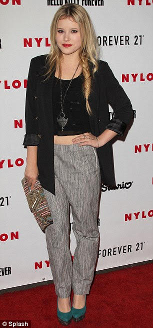 Flawless fashion: Taylor Spreitler and London born actress Tehmina Sunny both looked sublime in their savvy styles