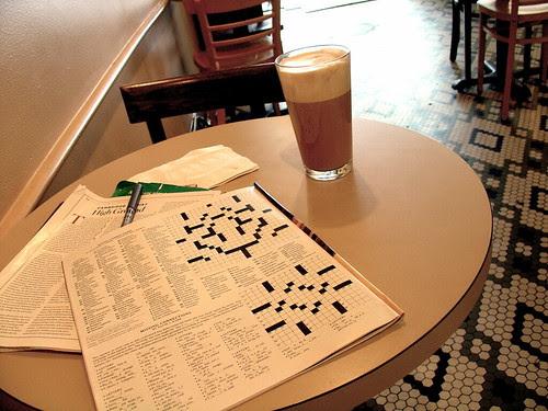 Café, crossword