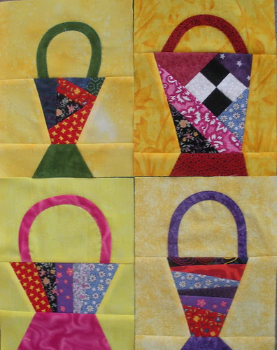 4 Completed Baskets