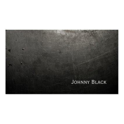 D.J. Metal Industrial Scratched Iron Black Business Card Templates