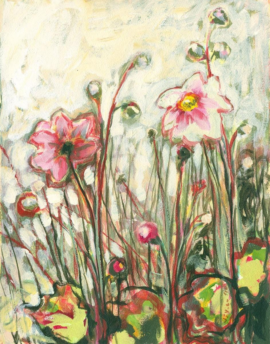 Impressionist Daisy 8 x 10 inch Bamboo Fine Art Print