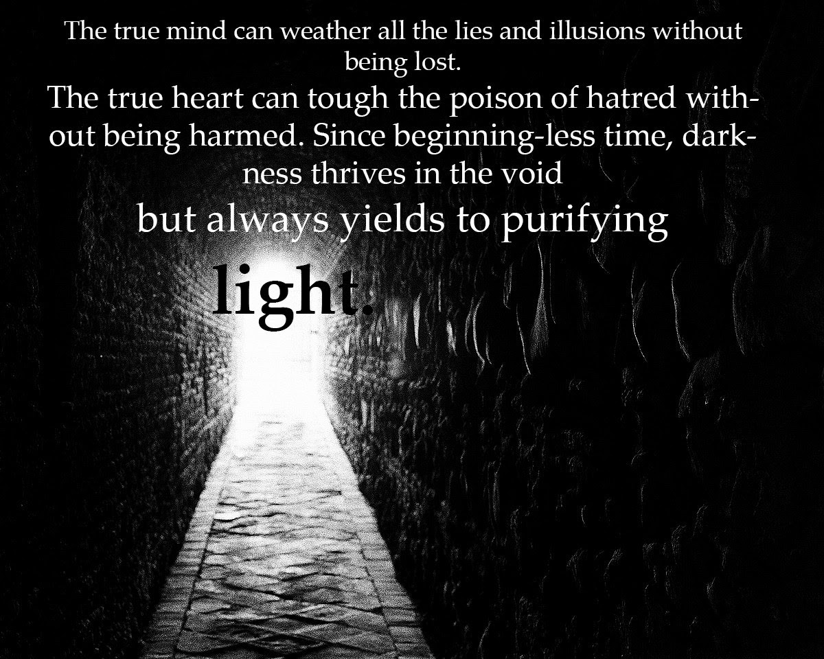 The True Mind Can Weather All The Lies And Illusions Without Being