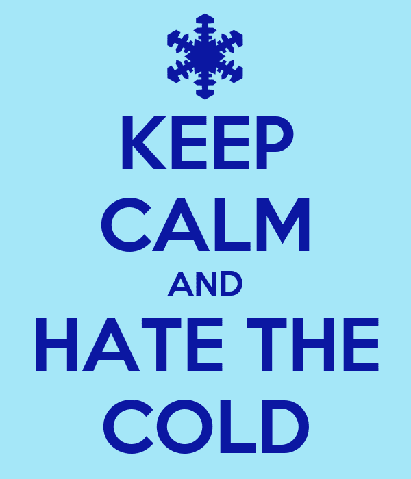 Hate Cold Weather Quotes Traffic Club