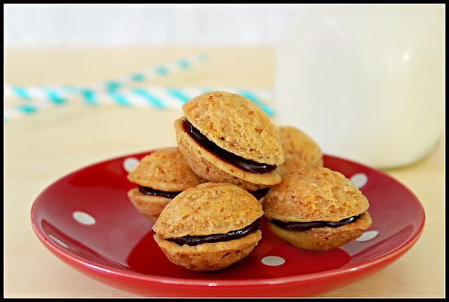 Chocolate-Filled Walnut Cookies