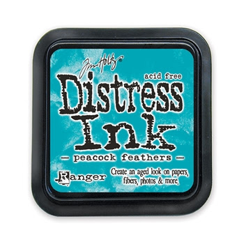 Tim Holtz Distress Ink Pad PEACOCK FEATHERS Ranger Spring TIM34933