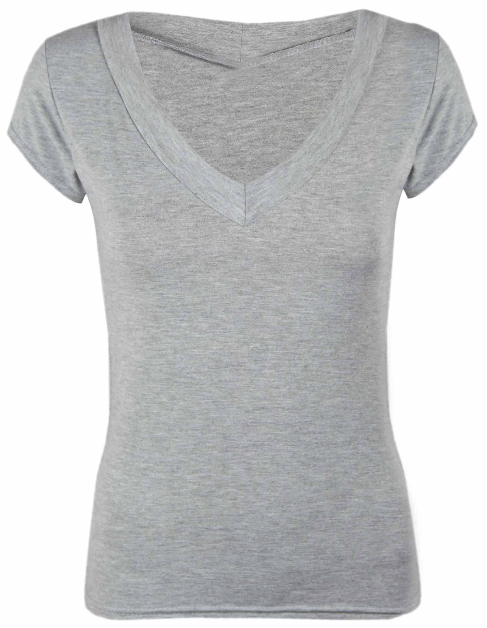 Basic V Neck Plain T-Shirts