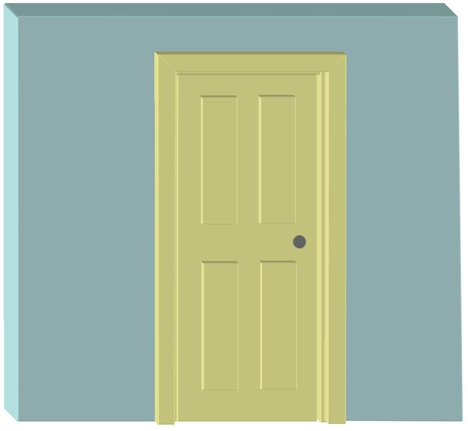 Interior door frames 1 3D1