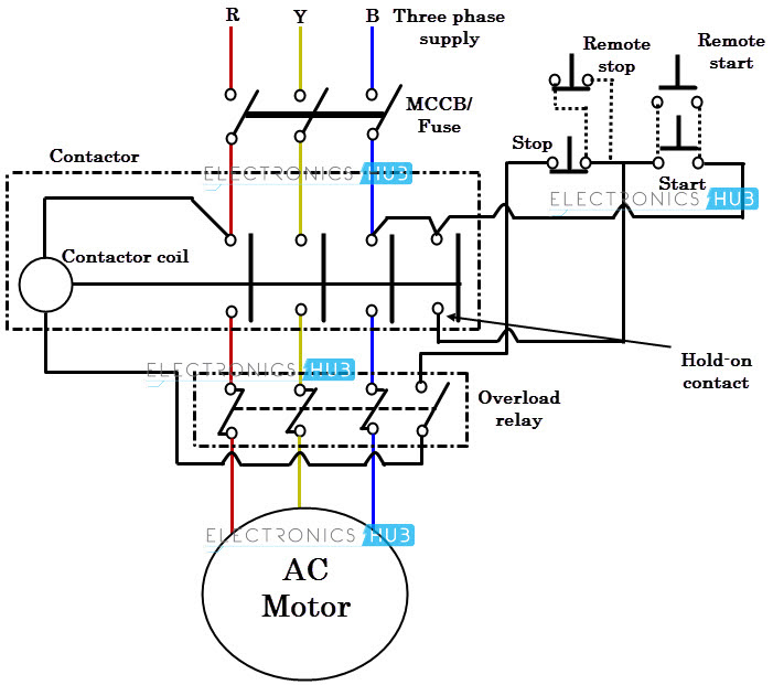 Diagram Wiring Diagram Of Dol Starter Full Version Hd Quality Dol Starter Kembreywiring2n Angelux It