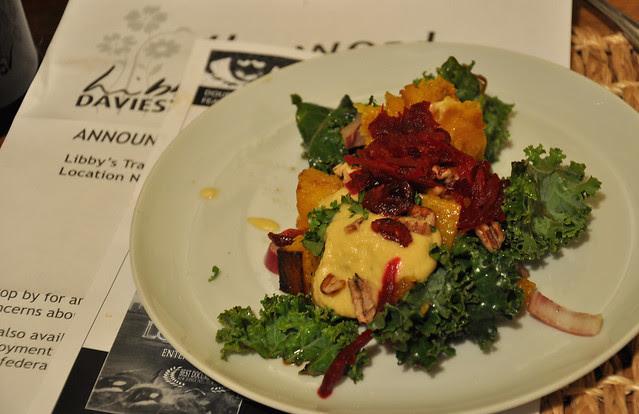 kale & butternut squash salad