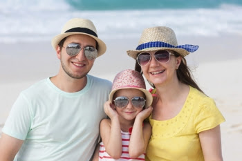 Photo of a family at the beach