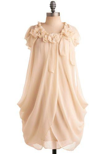 Ryu Ivory Rose Dress | Mod Retro Vintage Dresses | ModCloth.com