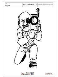 Kameraman Boyama Sayfaları