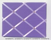 Purple and Lilac Memory Board French Memo Board 20X16 on Etsy