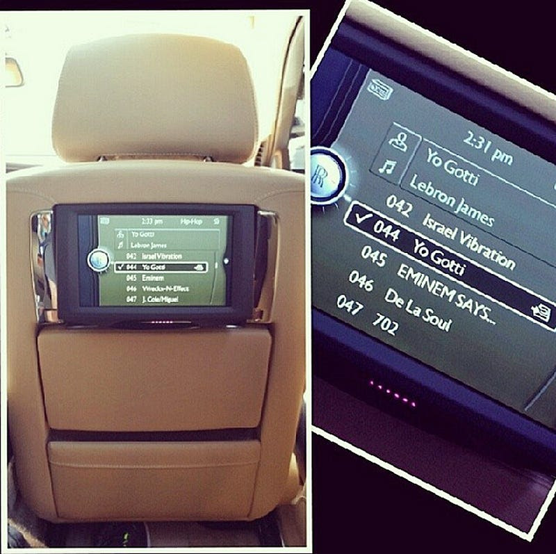 He also owns a Rolls-Royce Phantom with TVs in the seats.