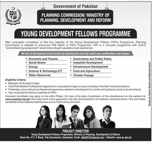 Young Development Fellows Programme Planning Commission