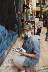 Alex Paints Bandra Bazar Road by firoze shakir photographerno1