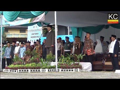Upacara Puncak HAB Kemenag Ke 74 Di Cianjur