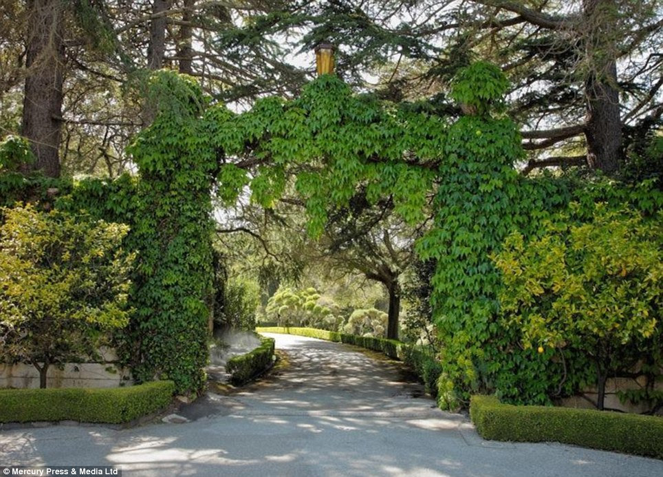 Leafy: The grounds feature plenty of trees and greenery