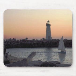 Santa Cruz Lighthouse Mousepad mousepad