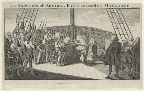 The shooting of Admiral Byng.