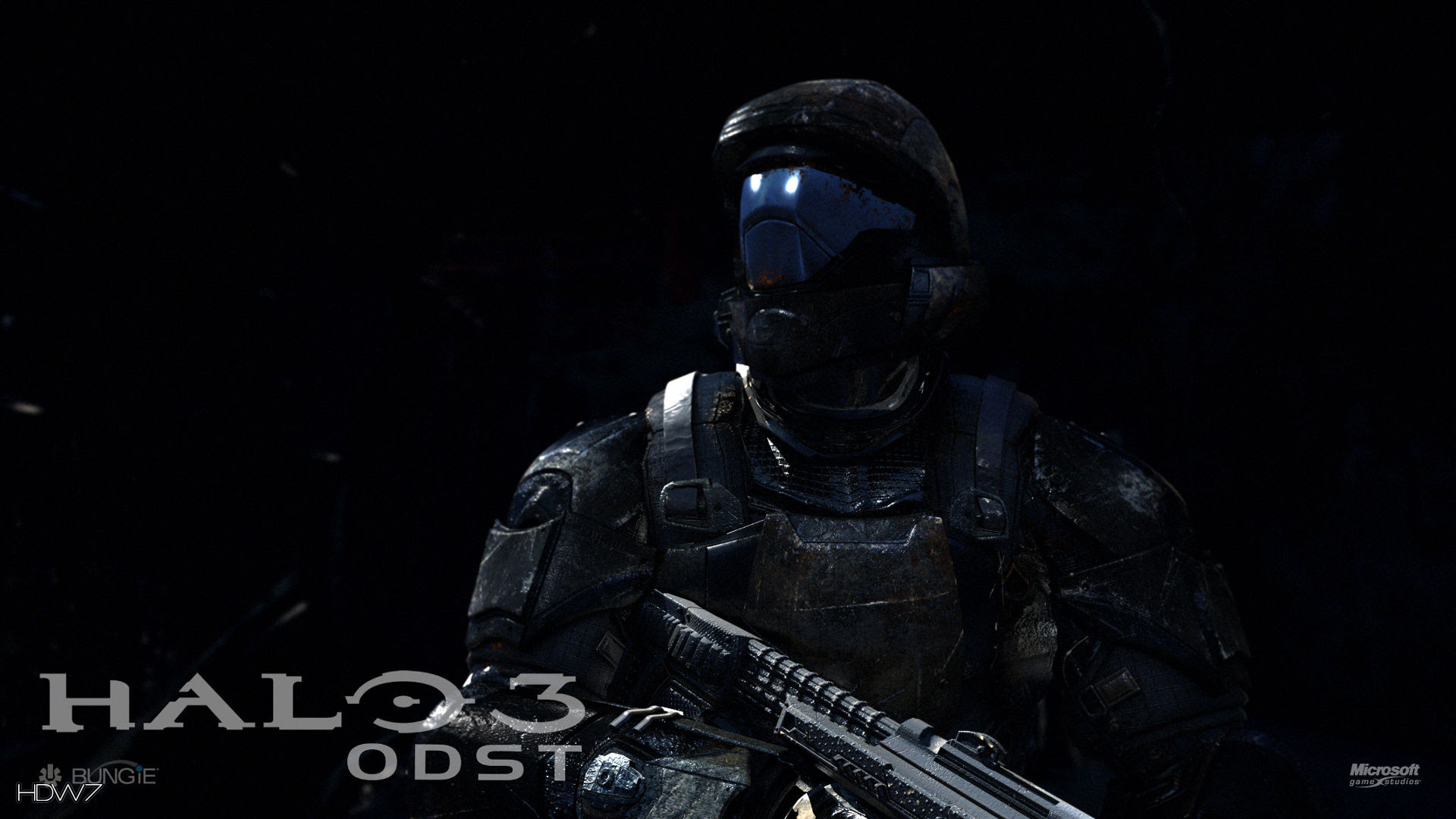 Halo 3 Odst Proceed With Caution Widescreen Hd Wallpaper Hd