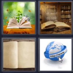 4 Fotos 1 Palabra Libros Abiertos Auriculares Libro Abierto Iconos