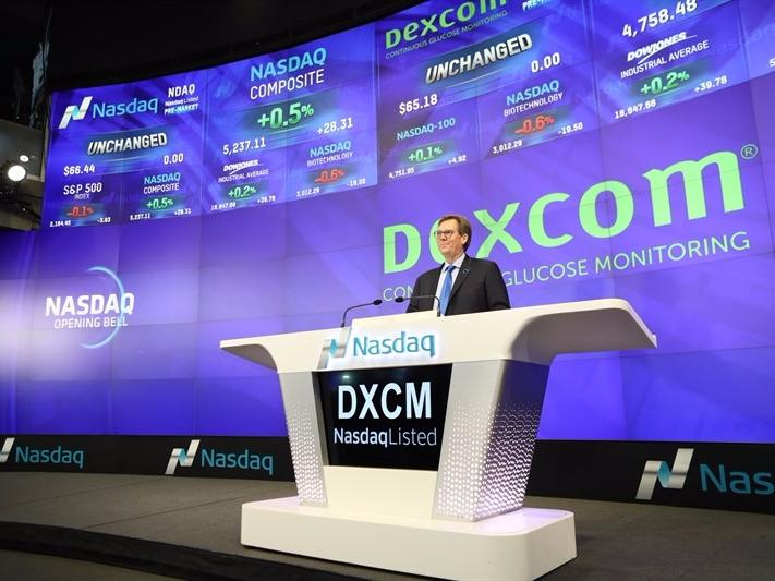 Dexcom NASDAQ Bell Ringing Kevin Sayer