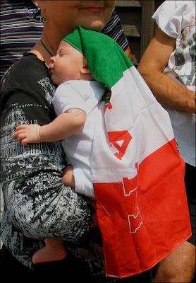 Baby in Italian flag