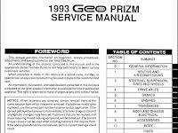 1995 Geo Prizm Wiring Diagram
