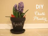 DIY Chalkboard Pumpkin Planter   Shelterness