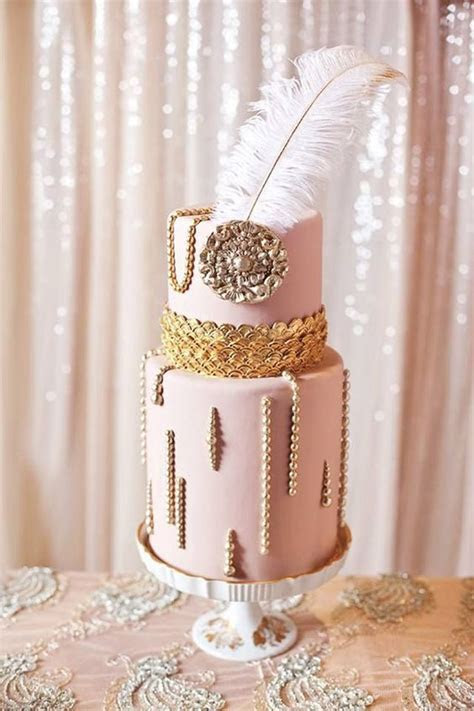 27 Refined And Bold Art Deco Wedding Cakes   Weddingomania